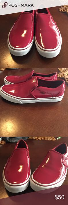 Burgundy Vans Burgundy Patton leather vans Vans Shoes Athletic Shoes