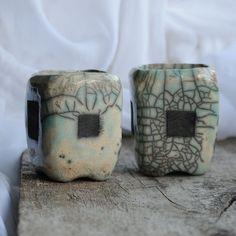 Raku II Schalen zum Tee oder Wein von Studio ES auf DaWanda.com