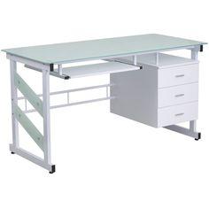 Flash Furniture 3 Drawer Pedestal Computer Desk & Reviews   Wayfair