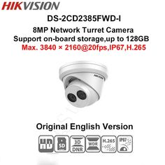 (170.61$)  Watch here - http://ailoe.worlditems.win/all/product.php?id=32805444287 - In stock DHL free shipping english version DS-2CD2385FWD-I 8MP Network Turret Camera 120dB Wide Dynamic Range