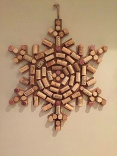 Snowflake with corks