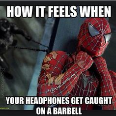 Haha oooo spiderman did Superman get ya? Gym Humour, Workout Humor, Gym Workouts, Workout Tips, Funny Gym Quotes, Gym Memes, Fit Quotes, Funny Memes, Bodybuilding Memes