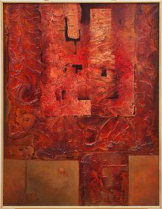 Josef Istler - Cimposition in red Abstract, Modern, Artwork, Artist, Red, Painting, Work Of Art, Artists, Painting Art