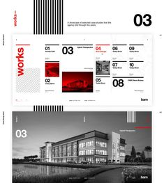 Webiste concept for an architecture studio. Based on a real architecture studio with this name. Some images belong to Bam Studio and others were taken from Unsplash.The concept behind the art direction is the invisibility of des… Architecture Portfolio Layout, Portfolio Design, Architecture Design, Web Layout, Layout Design, Website Layout, Design Web, Flat Design, Mise En Page Portfolio