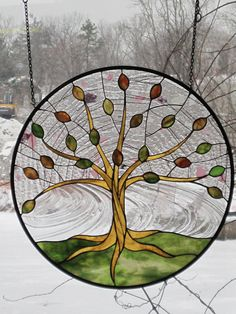 Stained Glass Tree of Life/Spring by RenaissanceGlass on Etsy
