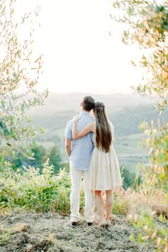 Tuscany Engagement from Amanda K Photography // Dress BHLDN