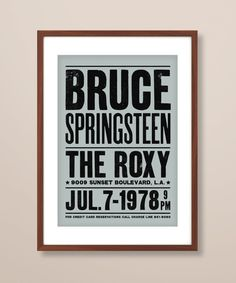 Bruce Springsteen concert poster Bruce by TheIndoorType on Etsy