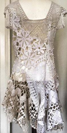 Doily Dress- not exactly original crochet pattern but ....well, I just like it!