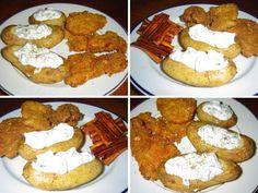 Kuřecí kousky v kukuřičných lupíncích, k tomu brambory s tvarohem a pečená mrkev | | MAKOVÁ PANENKA