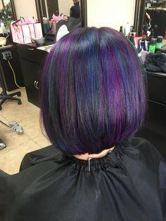 Vibrant Hair Colors, Bright Hair, Colorful Hair, Short Dark Hair, Dark Red Hair, Cut My Hair, Hair Cuts, Oil Slick Hair, Hair Coloring