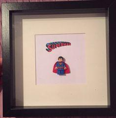 Superman lego frame Lego Frame, Superman, Art Pieces, Gifts, Home Decor, Presents, Decoration Home, Room Decor, Artworks