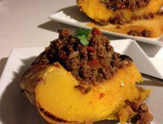 Calabaza rellena con picadillo a la cubana/mexicana, deliciosa manera de incorporar la calabaza en tu dieta