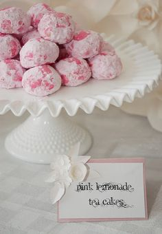 Baby shower:   pink lemonade tea cakes - cookie exchange?