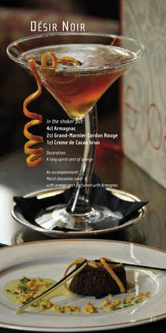 Grand Marnier & Armagnac Cocktail recipe, a must with chocolate cake