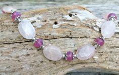 Rose Quartz Necklace, Gift for Her, Stone Bead Necklace, Everyday Jewelry, Bead Necklace Women, Women Necklace, Rose Quartz, Love Chakra