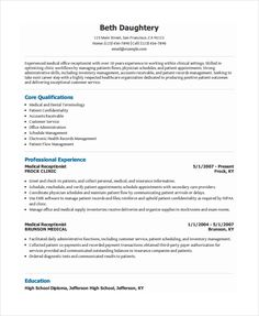 free resume template receptionist freeresumetemplates receptionist resume template