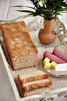 Chleb kokosowy bezglutenowy Cornbread, Banana Bread, French Toast, Good Food, Gluten Free, Vegan, Breakfast, Ethnic Recipes, Fit