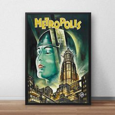 Hey, I found this really awesome Etsy listing at https://www.etsy.com/listing/294546183/metropolis-movie-vintage-poster