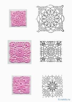 FANATICADELTEJIDO2WEB: Motivos crochet cuadrados