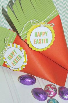 These carrot treat boxes are simple to make and so cute!