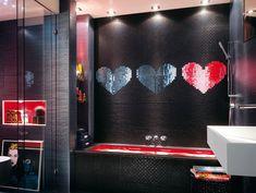 Cerámica negra para baños de jovenes