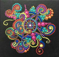 Pointillism, Dotillism, Dot Art, Mandala Art, on a frame. So talented Dot Art Painting, Rock Painting Designs, Mandala Painting, Painting Patterns, Stone Painting, Mandala Design, Mandala Pattern, Mandala Painted Rocks, Mandala Rocks