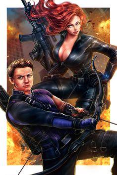 Hawkeye Comic, Hawkeye Avengers, Black Widow Avengers, Marvel Avengers Comics, Avengers Art, Marvel Comic Universe, Marvel Art, Marvel Heroes, Marvel Characters