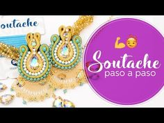 (2864) Cómo hacer ARETES SOUTACHE 🤩 BISUTERÍA - YouTube Beaded Flowers, Shibori, Tatting, Jewels, Make It Yourself, Embroidery, Inspiration, Youtube, Ear Rings