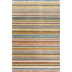 Mann Multi-Colored Striped Rug