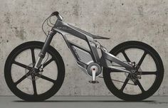 """Audi e-bike Wörthersee The uncompromising dynamism of the bike prototype is fully visible at first sight. """"When developing the Audi e-bike Wörthersee we drew on motor racing design principles for. Velo Design, Bicycle Design, Cool Bicycles, Cool Bikes, Bmx Vintage, Design Transport, Transport News, Electric Bicycle, Ducati"""