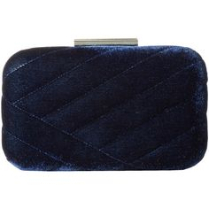 Jessica McClintock Ashlyn Velvet Clutch (Navy) Clutch Handbags ($28) ❤ liked on Polyvore featuring bags, handbags, clutches, navy, blue clutches, navy purse, jessica mcclintock clutches, navy clutches and velvet handbag