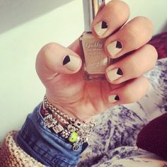Nail art for short nails with Barry M