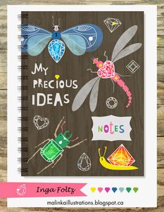 malinka illustrations My Precious, Notebook, Notes, Exercise Book, The Notebook, Journals