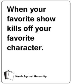 Nerds Against Humanity - Tumblr of Nerdy cards