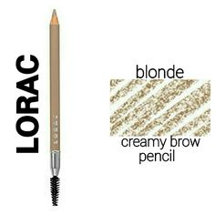 """LORAC Creamy Brow Pencil double sided LORAC Creamy Brow Pencil in """"Blonde"""" Define, fill in, and shape your brows with this double sided creamy pencil. A brush on the opposite end allows you to comb brows into place. Brand New in Box Never Used Never Swatched. Price firm lorac Makeup Eyebrow Filler"""