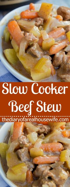 This Slow Cooker Beef Stew is the perfect warm and cozy meal. Full of flavor, hearty beef, and vegetables, you want to make sure this recipe is on your menu!