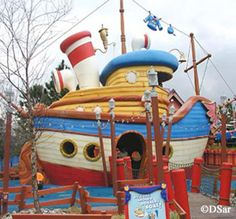 Donald's boat--S.S. Daisy--at what used to be Mickey's Toontown Fair, Walt Disney World