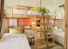 TIP: Mirrors make the room appear larger. Quality Time, Bunk Beds, The Unit, Mirrors, Larger, Room, Furniture, Model, Home Decor