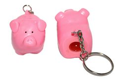 $1.49 Pooping Pig Squeezy Piggy Keychain Key Chain