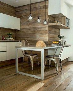 Revestimiento pared con madera