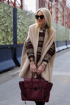 we loved this cozy look on Blair (Atlantic-Pacific.)  She's wearing our pave cone cuff!