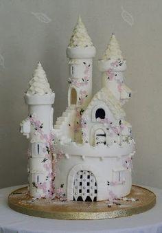 girls fairy princess castle birthday cake