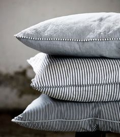 Indigo Stripe Cushion by Tina K Home | Mora Scandinavian Emporium