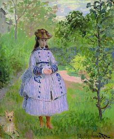 Portrait de Mademoiselle Bonnet (C Monet)
