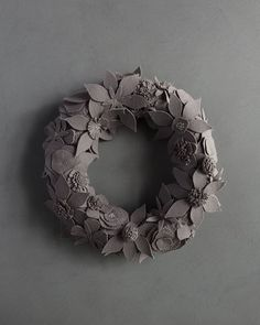 Purl Soho's Winter Wreath is a bounty of artful flowers, designed to celebrate the holiday season and beyond! This year we introduce three new palettes to our collection including Pewter, pictured here. See all of the new hues by following our profile link. #purlsoho #purlsohobusyhands #purlsohowinterwreath #felt #wreaths #sewersofinstagram #handmade #sewing