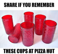 Going to Pizza Hut with the family when I was little. The smell was so good. It doesn't taste the same.