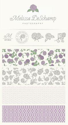 Melissa DeSchamp Photography Branding & Identity Design Logo, Watermark and Pattern Designs