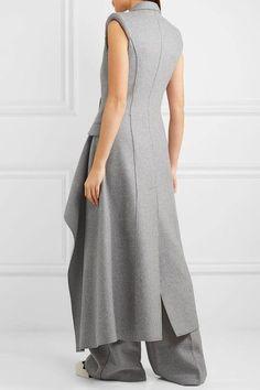 Alexander McQueen - Asymmetric Cashmere Gilet - Light gray