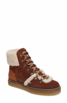 cd7cfa6cd1443 See by Chloé  Eileen  Genuine Shearling Boot Shearling Boots