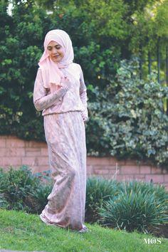 Gadijah Khan Design Blush Foiled Snake Print Maxi Dress   My Online Souk   www.myonlinesouk.co.za Modest Dresses, Eid, Clothes, Collection, Design, Fashion, Tall Clothing, Moda, Fashion Styles